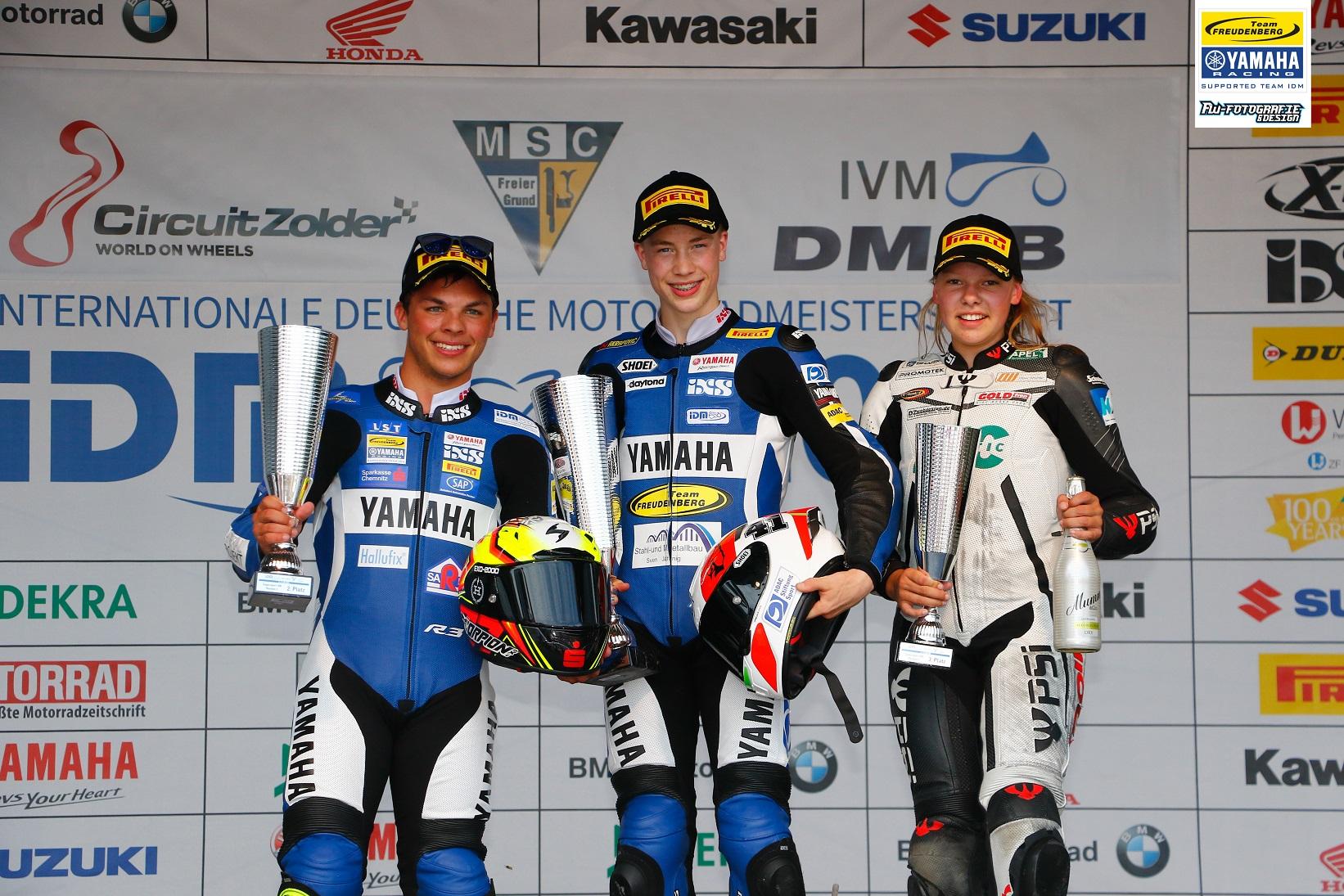 Erfolgreiches Wochenende in Belgien – Team Yamaha Freudenberg dominiert die IDM Supersport 300!