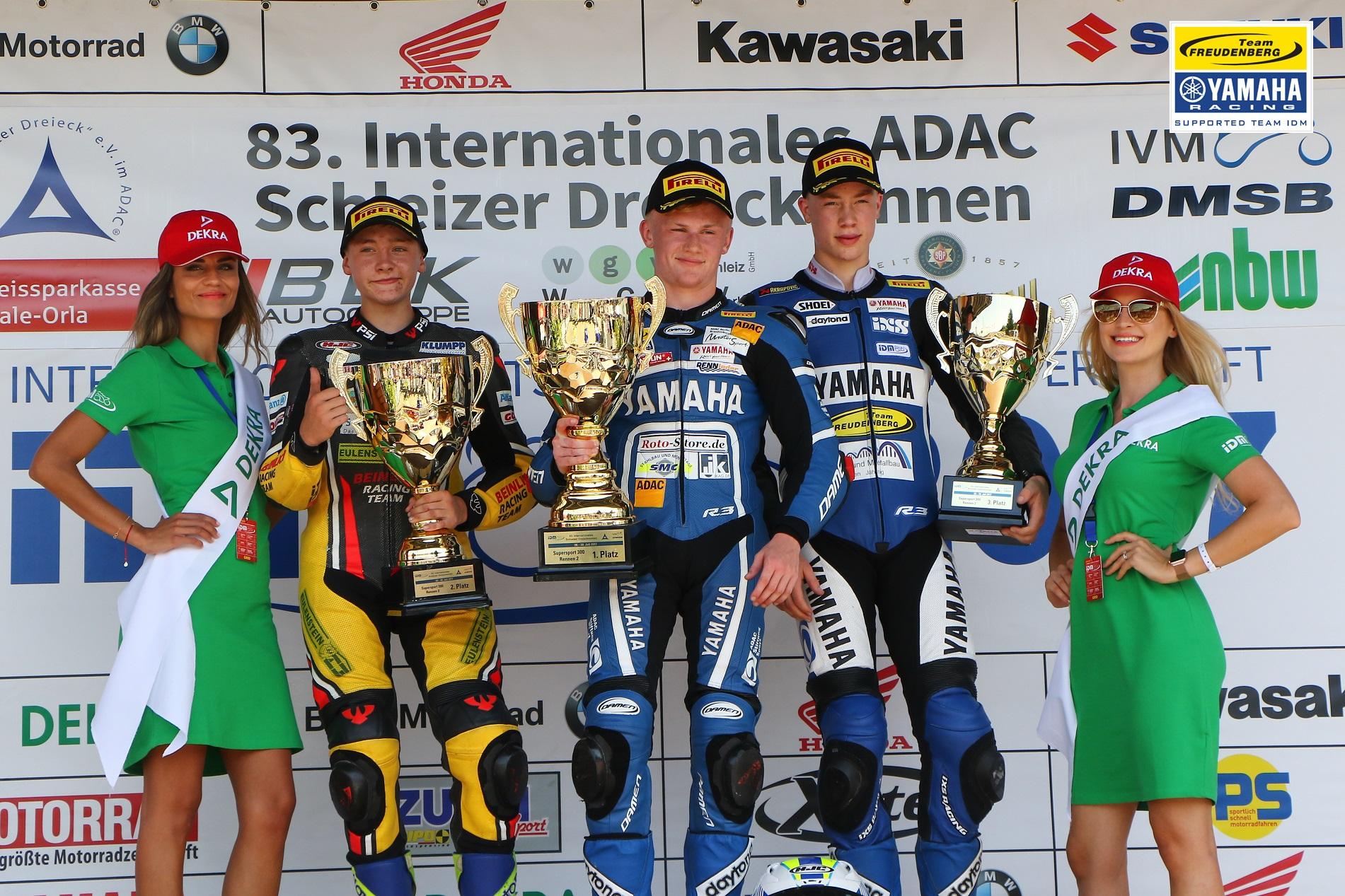 Georgi gewinnt am Schleizer Dreieck – Team Yamaha Freudenberg behauptet Spitzenposition in der IDM